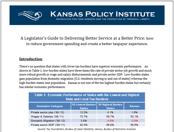 A Legislator's Guide to Delivering Better Service at a Better Price
