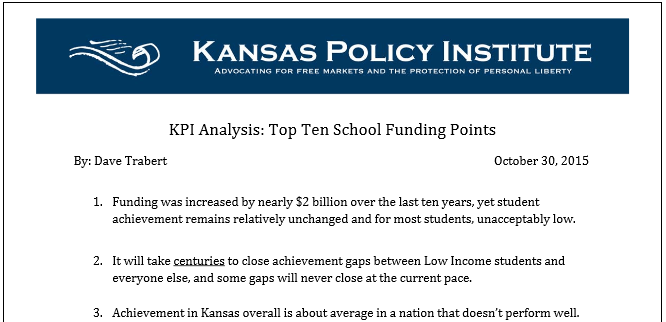 KPI Analysis: Top Ten School Funding Points