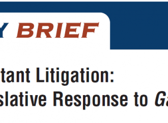 Moving Beyond Constant Litigation: Principles for a Legislative Response to Gannon V